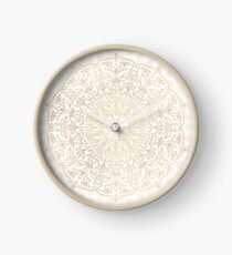 Gold Mandala Clock
