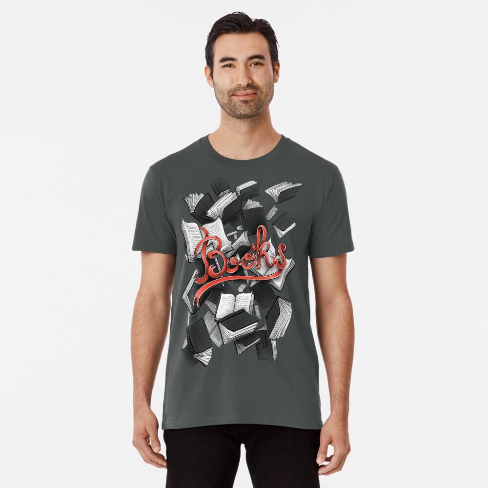 T-shirt premium «Books»