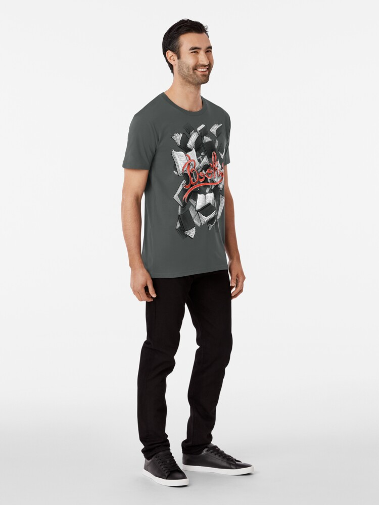 T-shirt premium ''Books': autre vue