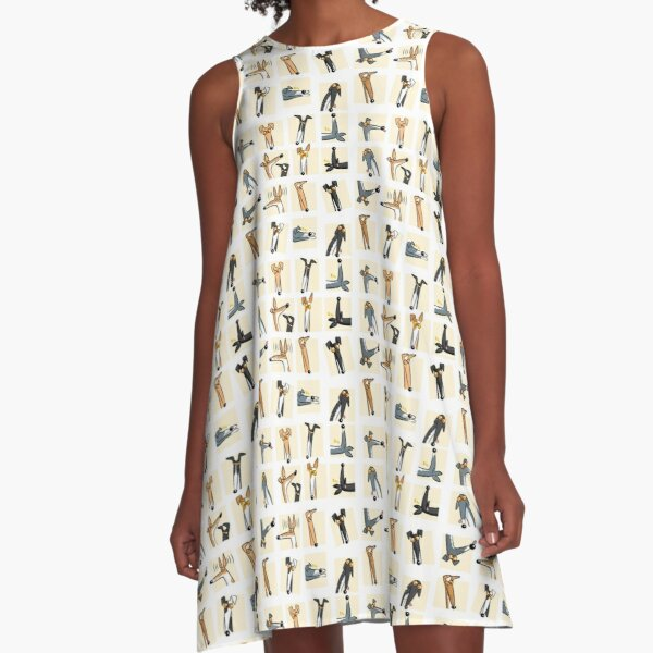 Heads up: Cream A-Line Dress