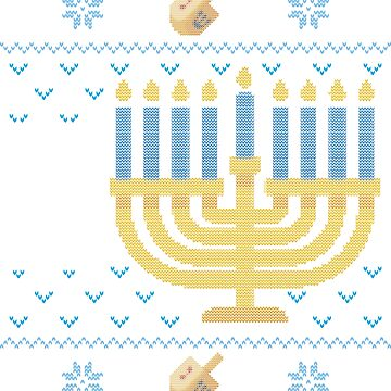 Ugly Hanukkah Sweater, Let's Get Lit, Jewish shirt jumper by taraJcreative