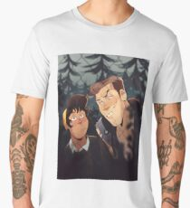 mitch and jonas behind the fence Men's Premium T-Shirt