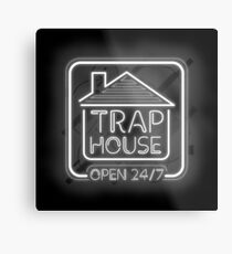 Welcome to the trap house - open 247 Metal Print