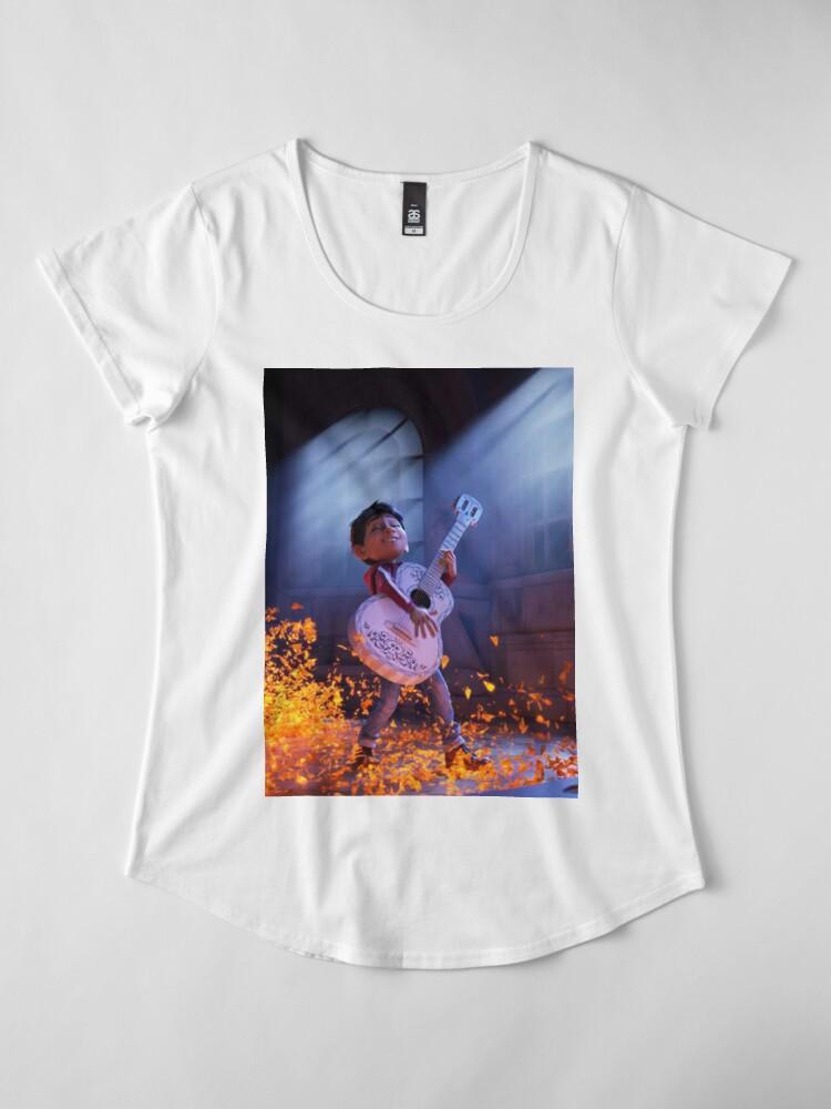 Vista alternativa de Camiseta premium de cuello ancho Coco movie