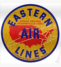 Eastern Airlines USA Poster
