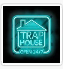 Willkommen im Trap House - Hellblaue Neon 247 - den ganzen Tag / die ganze Nacht Sticker