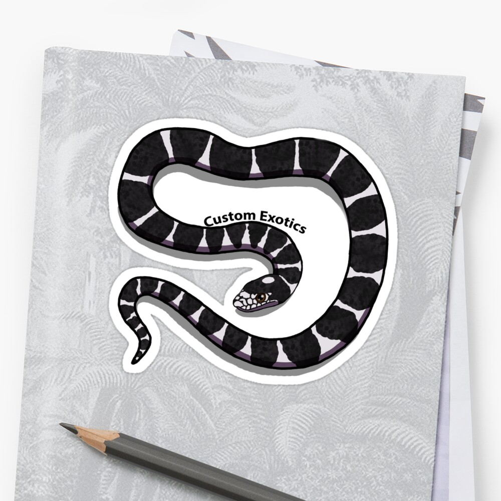 King snake sticker by customexotics
