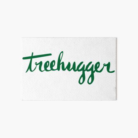 Treehugger Script Art Board Print