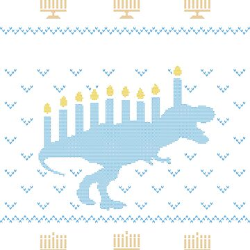 Ugly Hanukkah Sweater, Trex, Jewish Dinosaur shirt by taraJcreative