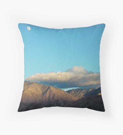 Arizona Desert Moon At 3pm... Throw Pillow