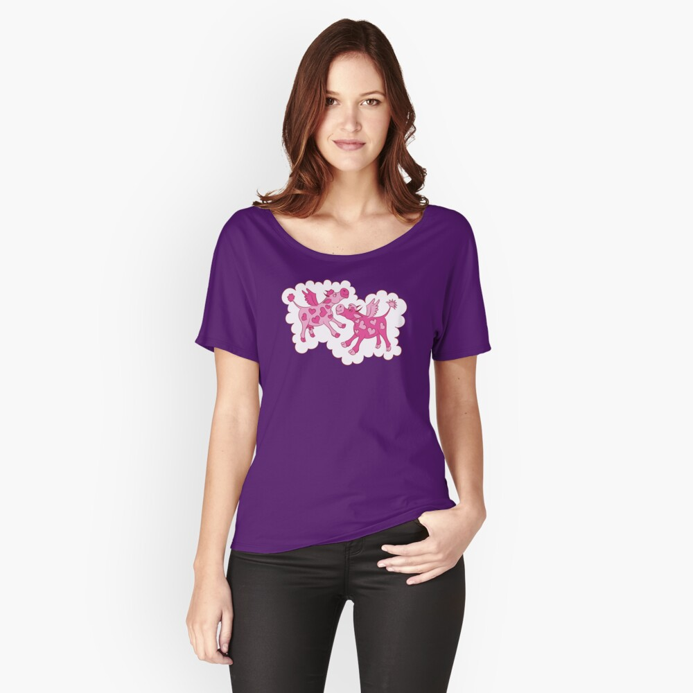 Cows in Romance Women's Relaxed Fit T-Shirt Front