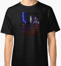 Jerusalem neighborhood at night Cat Classic T-Shirt