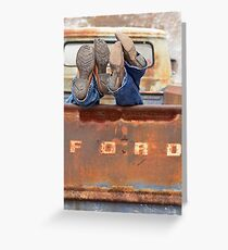 Relaxin' Country Style Greeting Card