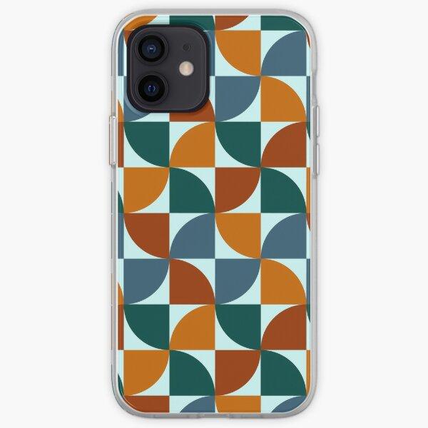 Blue and Orange Mid Century Mod iPhone Soft Case