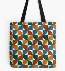 Blue and Orange Mid Century Mod Tote Bag