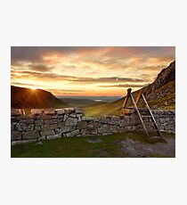 Hare's Gap Sunset Photographic Print
