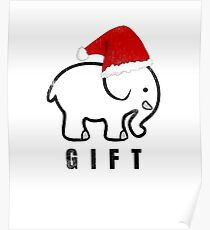 White Elephant Gift for Christmas Poster