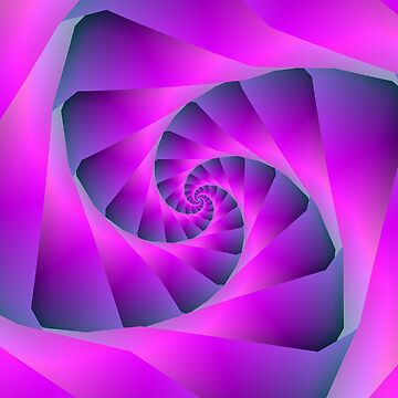 Pink and Blue Spiral by Objowl