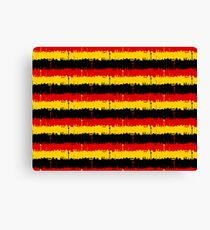 Dresden Germany Skyline Flag Repeating German Flag Fed, Gold and Black Colors  Canvas Print