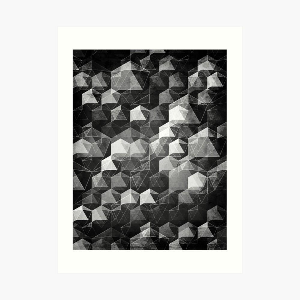 AS THE CURTAIN FALLS (MONOCHROME) Art Print