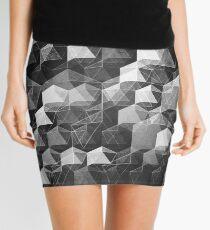 AS THE CURTAIN FALLS (MONOCHROME) Mini Skirt