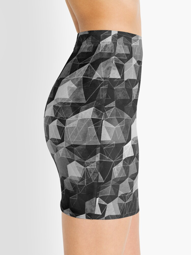 Alternate view of AS THE CURTAIN FALLS (MONOCHROME) Mini Skirt