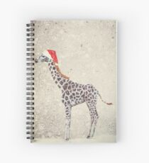 Christmas Giraffe Spiral Notebook