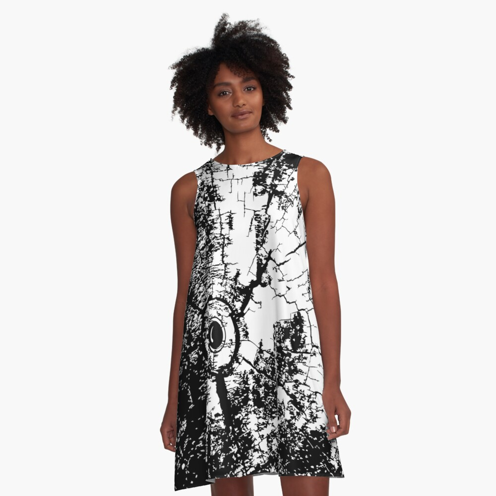 Cracked Wood Creature - Shee Texture / Pattern A-Line Dress