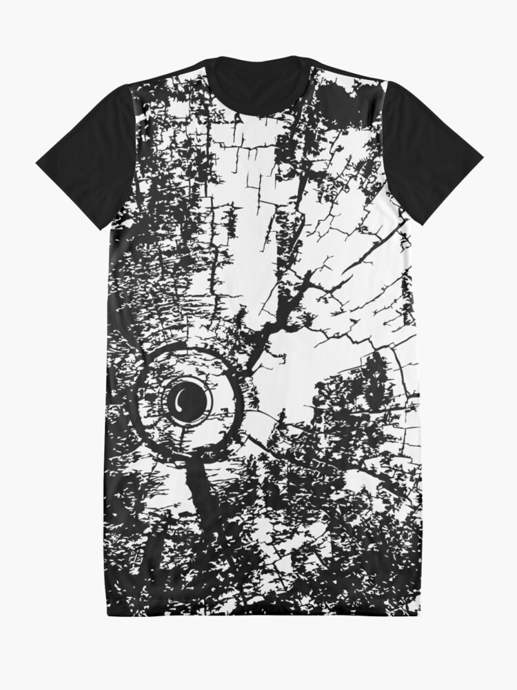 Alternate view of Cracked Wood Creature - Shee Texture / Pattern Graphic T-Shirt Dress