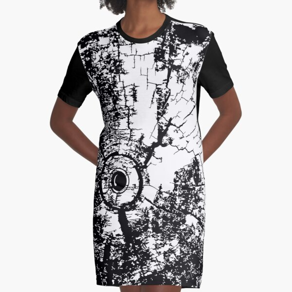 Cracked Wood Creature - Shee Texture / Pattern Graphic T-Shirt Dress