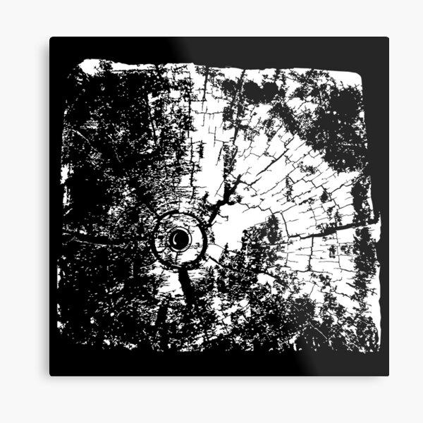 Cracked Wood Creature - Shee Texture / Pattern Metal Print