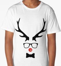 Hipster Christmas Deer Long T-Shirt