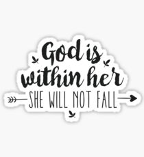 Christian Quotes Psalm 46:5 Sticker