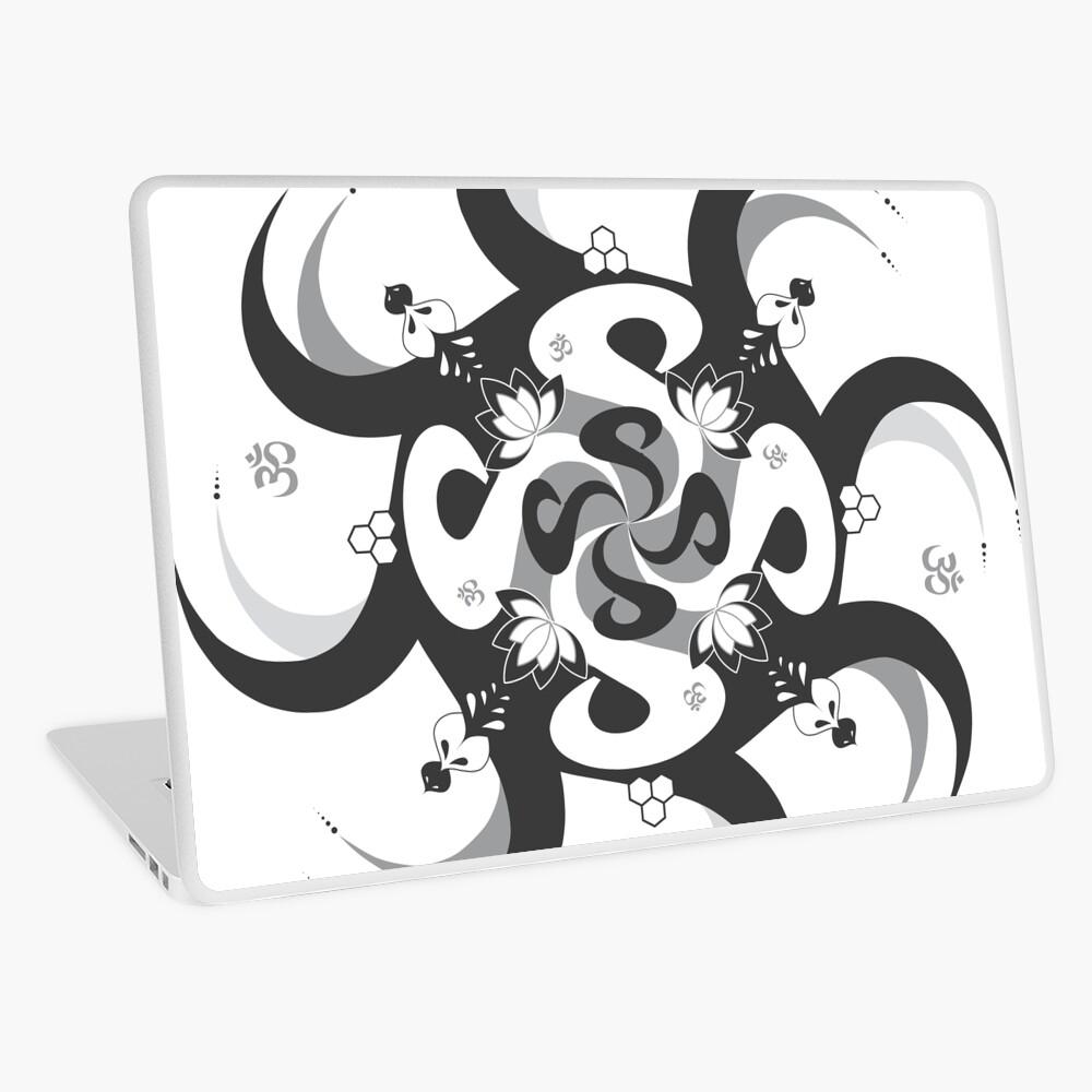Shee Mandala Spiral with Om and Lotus Symbol Laptop Skin