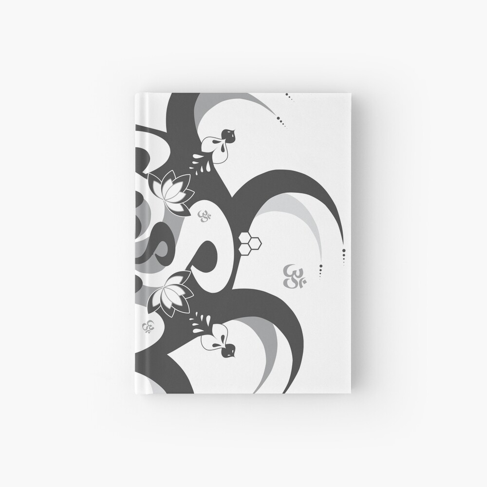 Shee Mandala Spiral with Om and Lotus Symbol Hardcover Journal