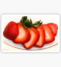 Sliced Strawberry Close-up Sticker