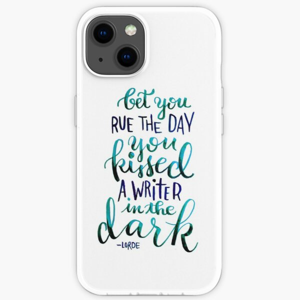 Kissed a Writer iPhone Soft Case