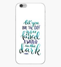 Kissed a Writer iPhone Case