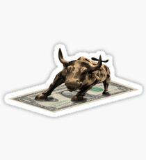 Pegatina Un toro al ataque