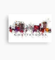 Chattanooga, TN Watercolor and pencil Canvas Print