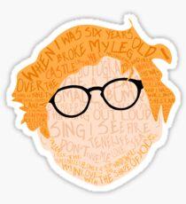 Sheeran Songs Sticker