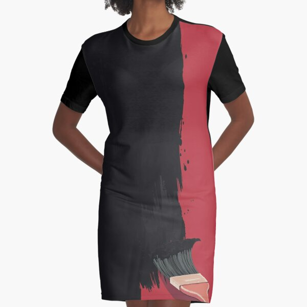 Paint It Black Graphic T-Shirt Dress