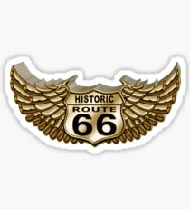 Historic Route 66 Wings Sticker