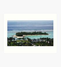Muri Beach Rarotonga Art Print