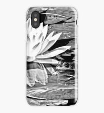 A frog's life in black and white iPhone Case/Skin