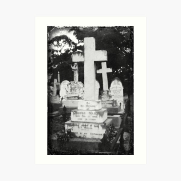 Graveyard Adornment #51 - Pinhole Photography on DSLR Art Print