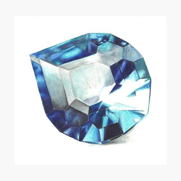 Blue Droplet Photographic Print