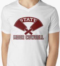 Joe Moorhead Moor Cowbell Hail State Mississippi State Football Men's V-Neck T-Shirt