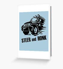 Steer and Honk design Greeting Card