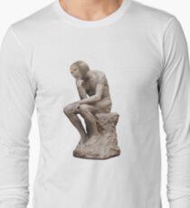 Surreal Thinker Meme Man  Long Sleeve T-Shirt